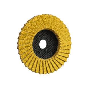 Lamelni brusni disk z edninstvenim Keramik-Hybrid zrnom, v granulaciji 40/60, ki zagotavlja visok odjem materiala in preprečuje pregrevanje obdelovanca.