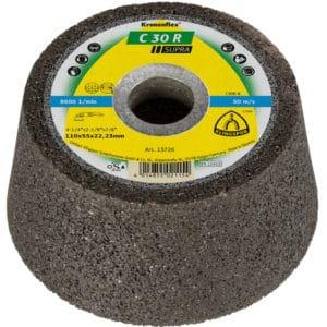 Brusni lonec Klingspor C30 R Supra, za brušenje kamnin in mineralnih snovi.