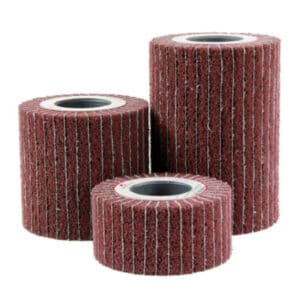 Kombiniran brusni kolut brez vpenjalnega vložka, za odstranjevanje rje in nečistoč na kovinah in lesu.