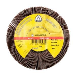 Kotni brusni kolut, za obdelavo jekla in ostalih kovin, lesa in plastike ter odstranjevanje barve.