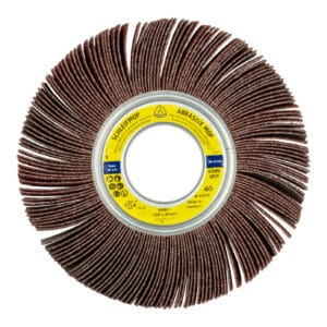 Brusni kolut za odstranjevanje barv in lakov ter brušenje lesa, plastike in kovin. Opimalno prileganje pa omogoča delo na konturah.