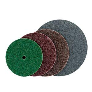 Polirni diski za odstranjevanje sledi oksidacije na kovinah, raziglenje in fino brušenje.